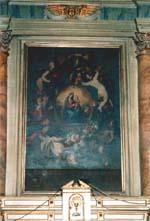 Altare sinistro con una tela della Madonna di Montenero