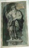 Tela rappresentante un personaggio dell'Antico Testamento
