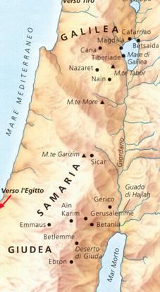 Cartina Fisica Palestina.La Palestina Ai Tempi Di Gesu Gesu Nella Storia